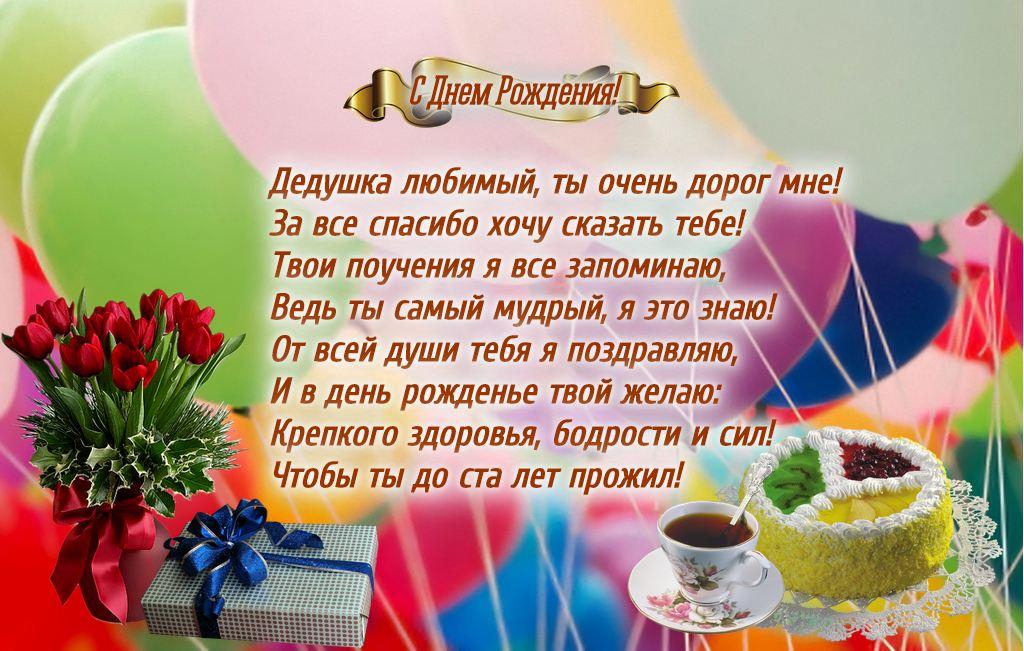 Открытка с днем рождения дедушка онлайн, открытки розами